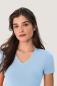 Preview: hakro, 126, Damen v-shirt-classic, eisblau,