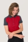 Preview: hakro, 239, Damen-Contrast-Poloshirt Performance, weinrot,