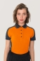 Preview: hakro, 239, Damen-Contrast-Poloshirt Performance, orange,