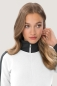Preview: hakro, 277, Damen-Sweatjacke Contrast Performance, weiss / anthrcite