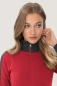Preview: hakro, 277, Damen-Sweatjacke Contrast Performance, rot / anthrcite