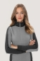Preview: hakro, 277, Damen-Sweatjacke Contrast Performance, titan / anthrcite