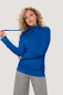 Preview: HAKRO 406, Damen Sweatjacke College, royalblau,