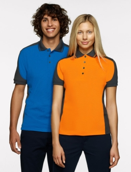 hakro 839 Contrast-Poloshirt Performance, orange,