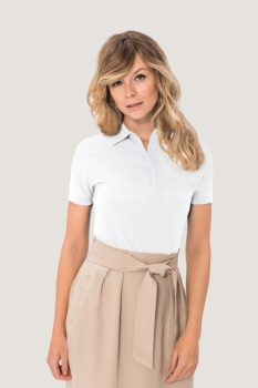 HAKRO 201, Damen Poloshirt Pima-Cotton,weiss,