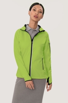 HAKRO 256, Damen Light-Softshelljacke Sidney,kiwi,