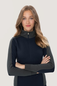 hakro, 277, Damen-Sweatjacke Contrast Performance, tinte / anthrcite