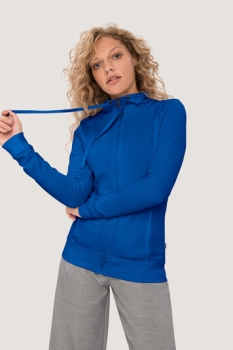 HAKRO 406, Damen Sweatjacke College, royalblau,