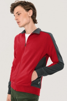 hakro, 477, Sweatshirt Performance, rot / anthracite,