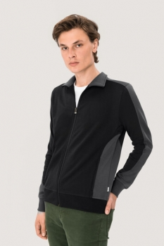 hakro, 477, Sweatshirt Performance, schwarz / anthracite,