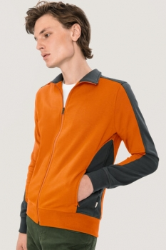 hakro, 477, Sweatshirt Performance, orange / anthracite,