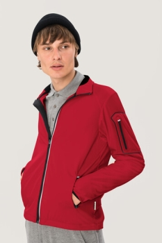 HAKRO 856, Light-Softshelljacke Brantford,rot,