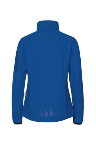 HAKRO 256, Damen Light-Softshelljacke Sidney,royalblau,rückseite,