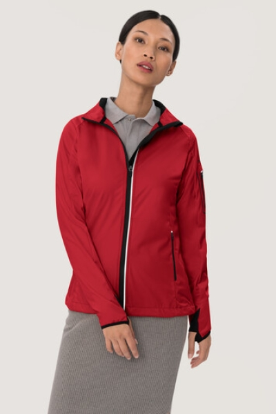HAKRO 256, Damen Light-Softshelljacke Sidney,rot,