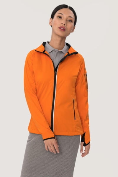 HAKRO 256, Damen Light-Softshelljacke Sidney,orange,