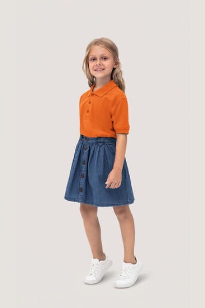HAKRO 400, Kinder Poloshirt Classic,orange,