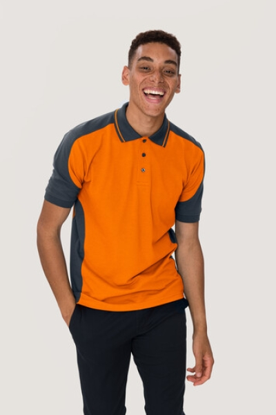 hakro, 839,  Contrast-Poloshirt Performance, orange / anthrazit